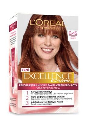 L'Oreal Paris L'Oreal Excellence Creme Saç Boyası 6.45 Sıcak Bakır Kahve
