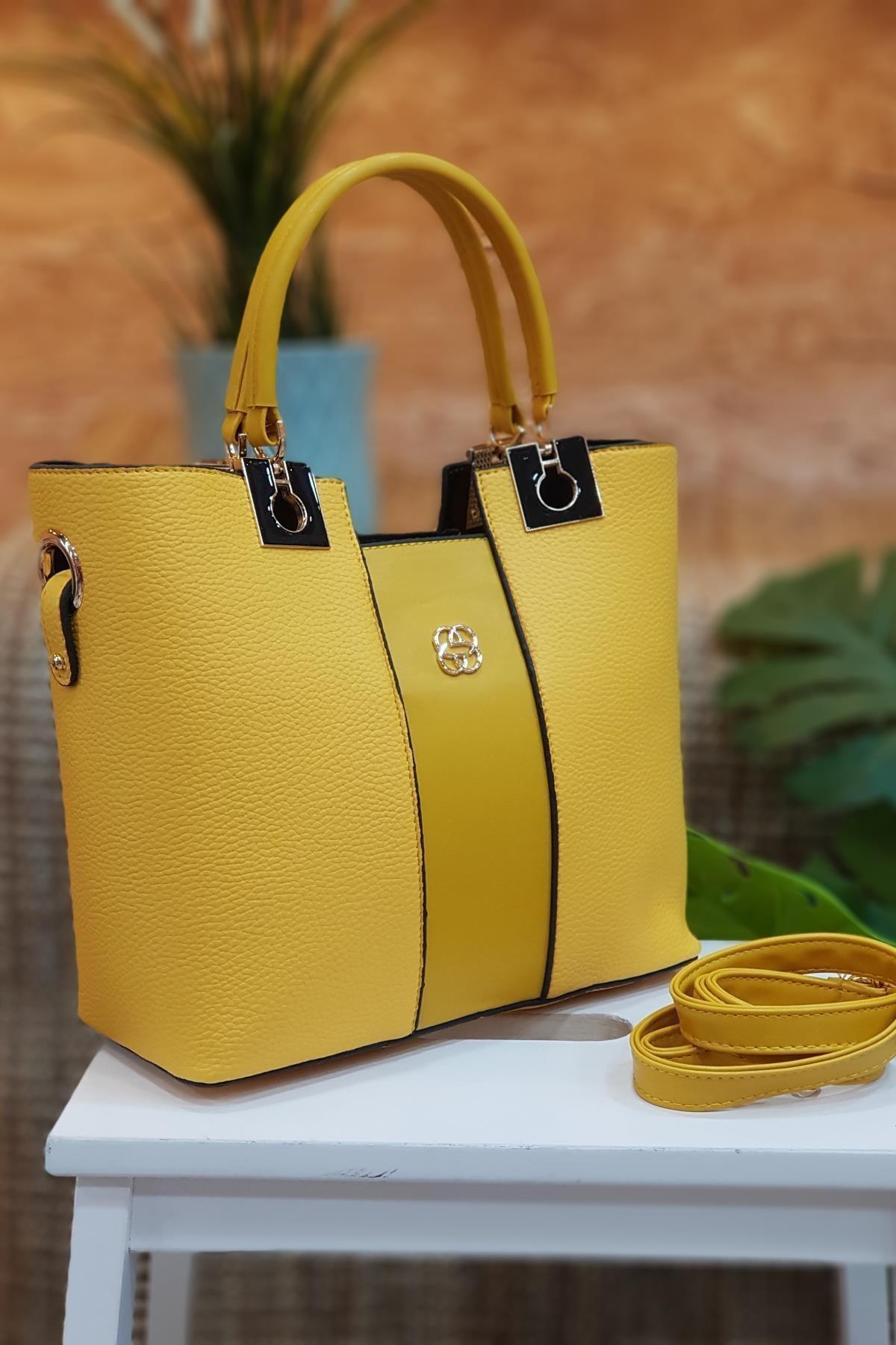 Limoya Bags Molly Sarı Kadın El Ve Omuz Çantası 2
