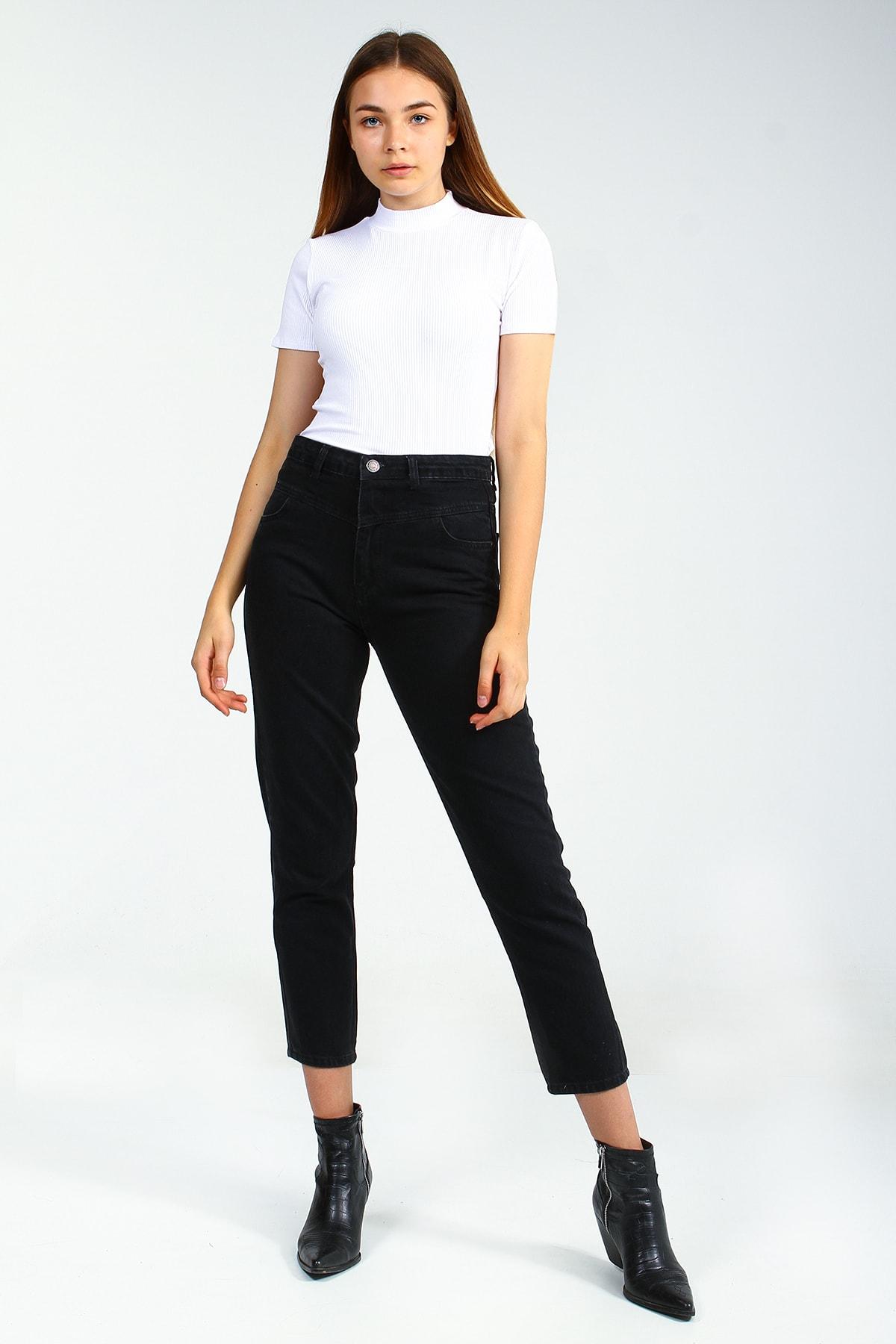 Collezione Kadın Siyah Pantolon 1
