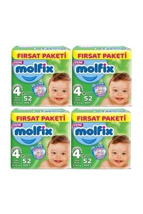 Molfix Fırsat Paketi 4+ Numara 52*4=208 Adet Bebek Bezi