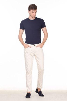 Ramsey Erkek Ekru Düz Dokuma Pantolon RP10120061