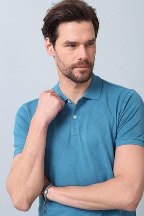Ramsey Erkek Petrol Jakarlı Örme T - Shirt RP10119893