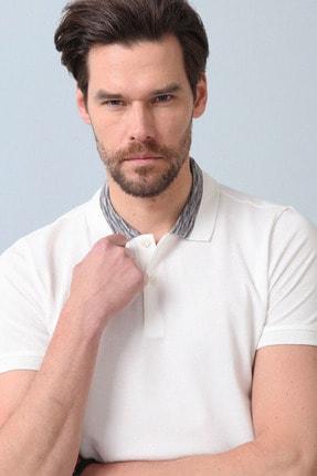 Ramsey Erkek Beyaz Jakarlı Örme T - Shirt RP10119899