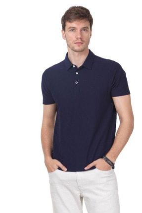 Ramsey Erkek Lacivert Jakarlı Örme T - Shirt RP10119896