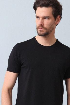 Ramsey Erkek Siyah Düz Örme T - Shirt RP10120598