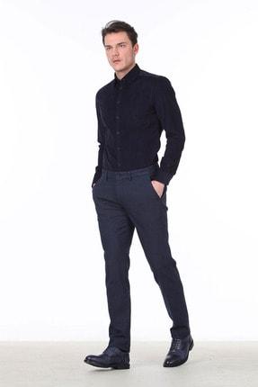 Kip Erkek Lacivert Desenli Dokuma Pantolon KP10117025