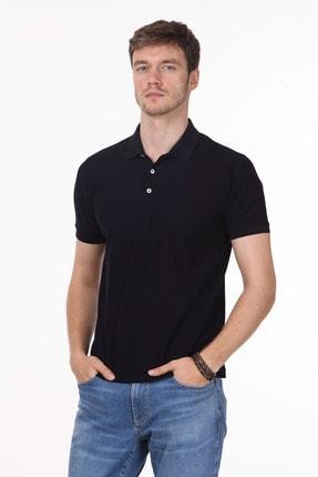 Ramsey Erkek Koyu Lacivert Jakarlı Örme T - Shirt RP10119913