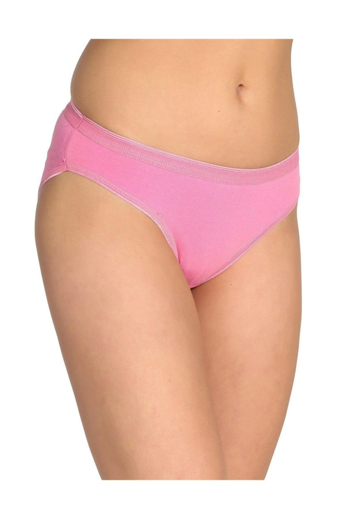 Tutku Kadın 6'lı Paket Bikini Slip Külot (Pembe) 1