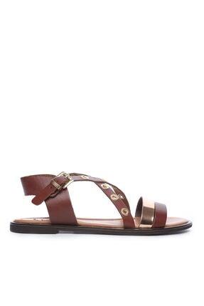 KEMAL TANCA Hakiki Deri Kahverengi Kadın Sandalet Sandalet 169 7282 BN SNDLT
