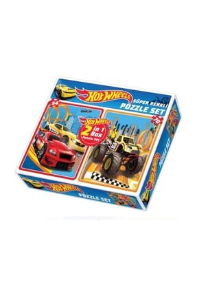 DIY Toys Hot Wheels 2 In 1 Puzzle