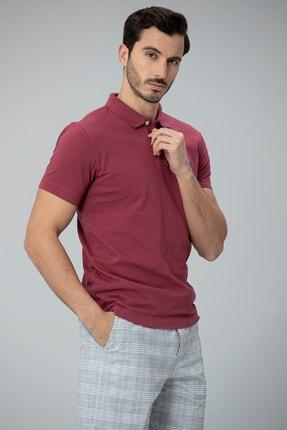 Lufian Laon Spor Polo T- Shirt Bordo