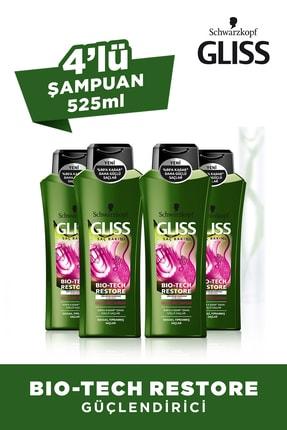 Gliss Bio-Tech güçlendirici Şampuan 525 ml x 4 Adet
