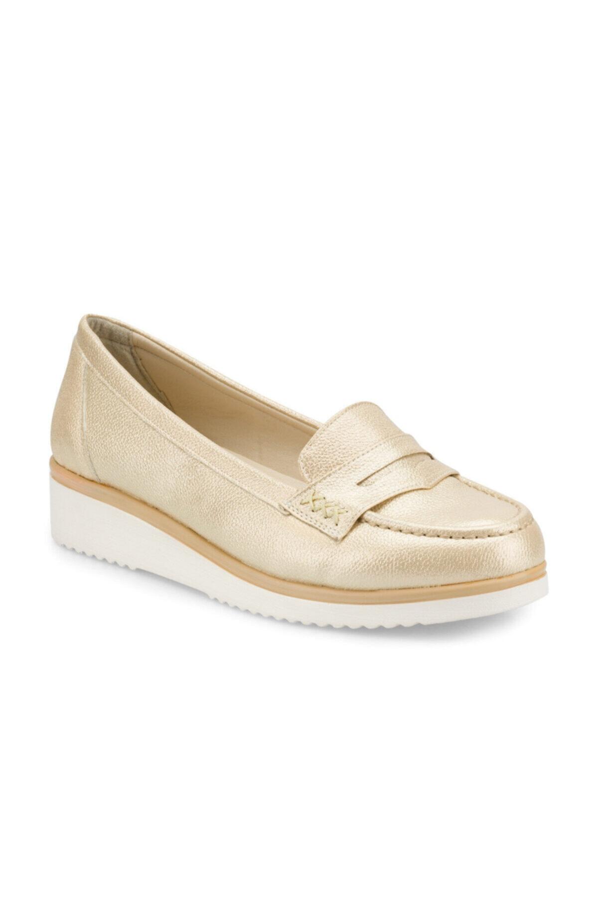Polaris 161100.Z Altın Kadın Loafer Ayakkabı 100509239 1