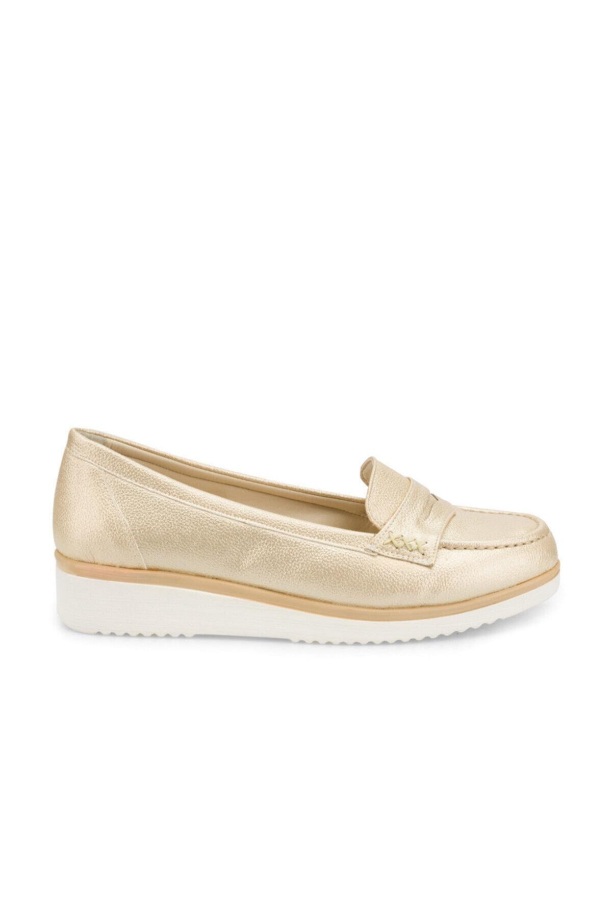 Polaris 161100.Z Altın Kadın Loafer Ayakkabı 100509239 2