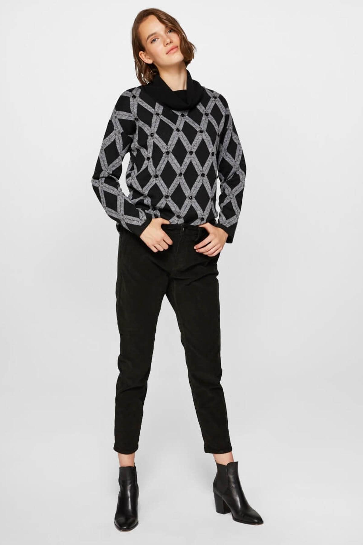 Faik Sönmez Kadın Siyah Pantolon 39516 U39516 1