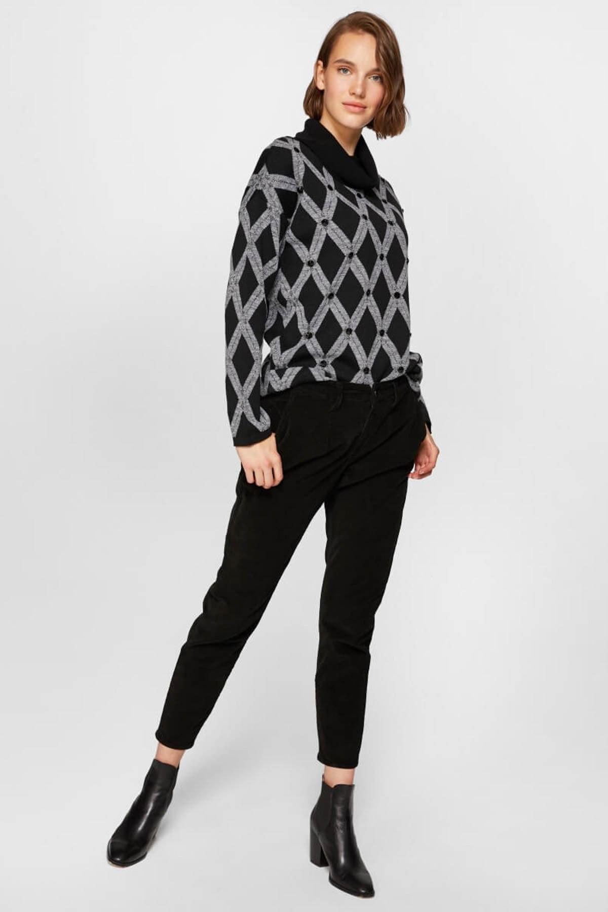 Faik Sönmez Kadın Siyah Pantolon 39516 U39516 2