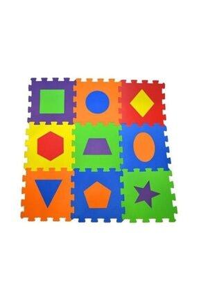 Diger Karakterler Çocuk Oyun Karosu - Eva Puzzle Yer Matı - Geometrik Şekiller /