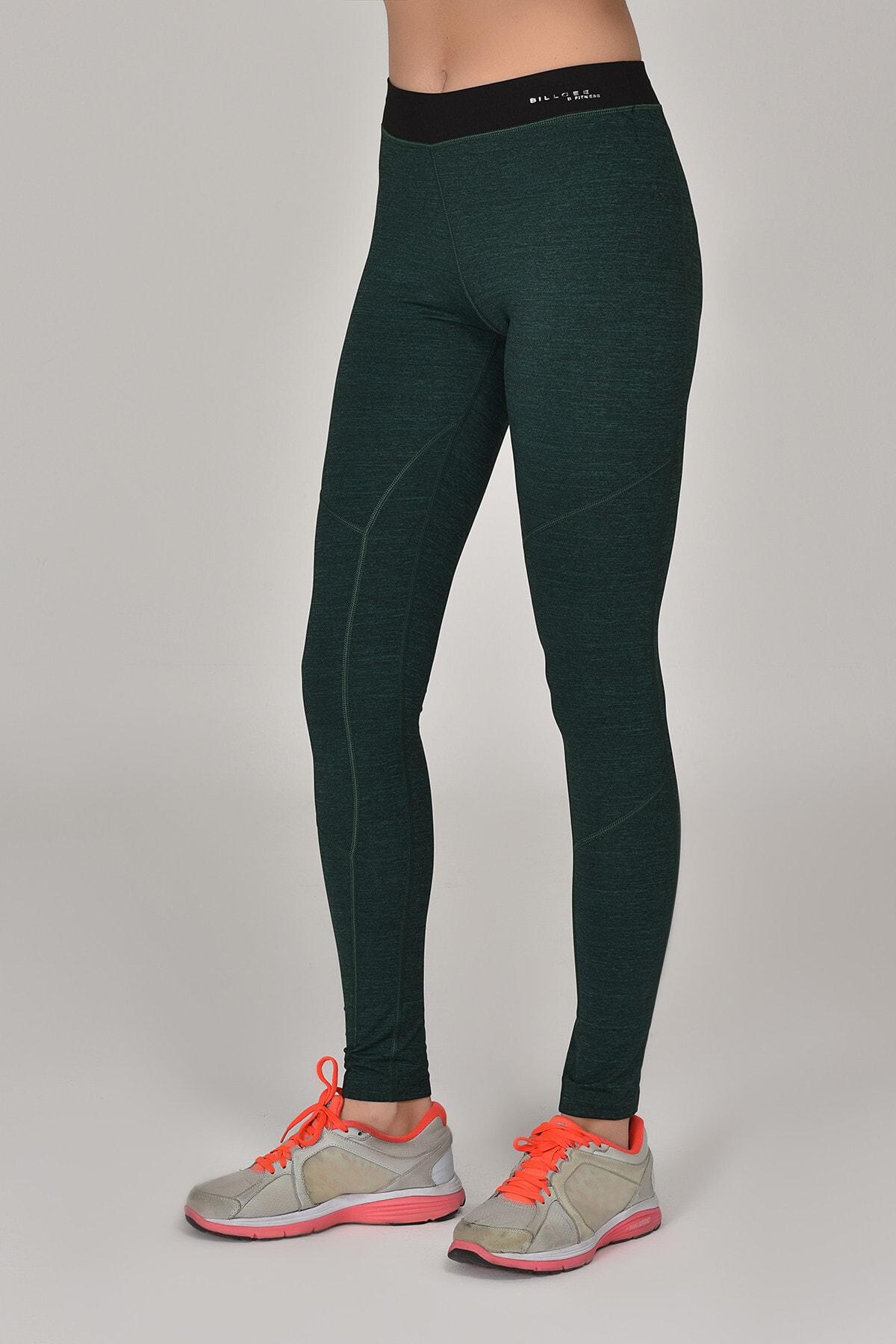 bilcee Yeşil Kadın Sporcu Tayt AW-6571 2