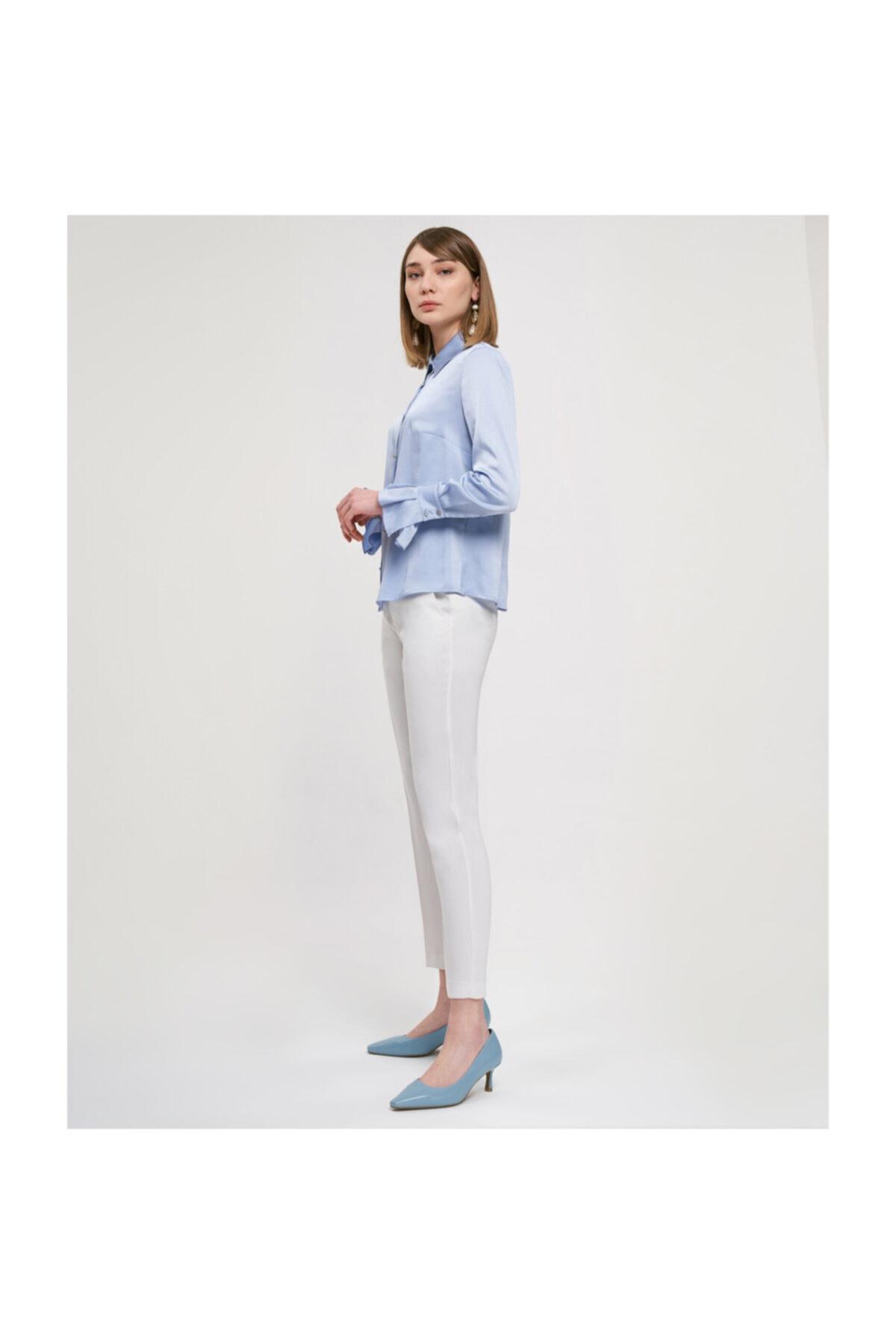 Aker Manşetli Açık Mavi Bluz V23070256 2