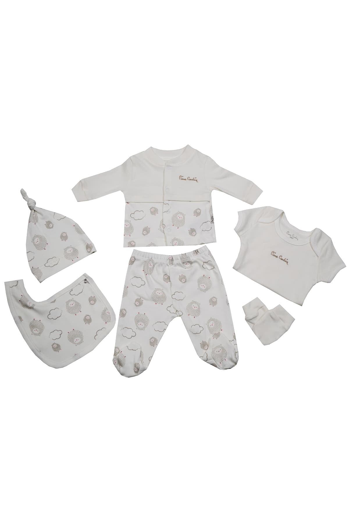Pierre Cardin Baby Pierre Cardin Kuzu Desenli Yenidoğan Takımlı Bebek Seti Ekru 1