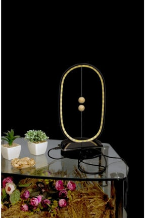 VEGOLED Siyah Led Masa Aplik Manyetik ve Şarj Etme Özelliği