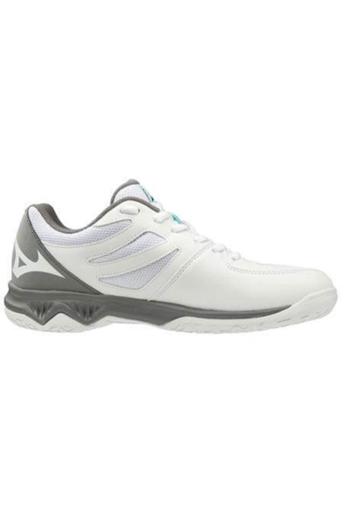 MIZUNO Unısex Beyaz Gri Voleybol Ayakkabısı 2