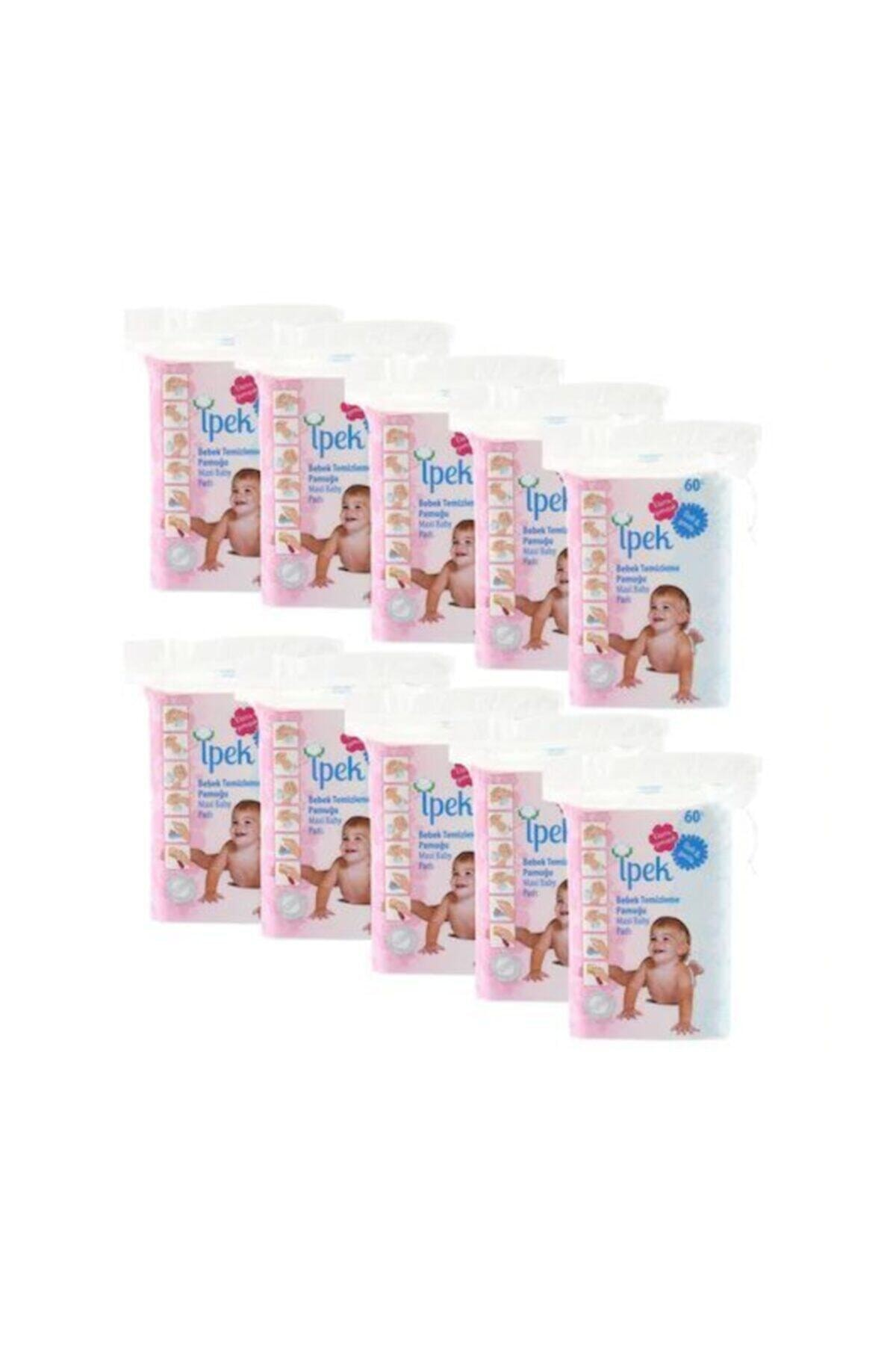 İpek Bebek Temizleme Pamuğu 60'lı X 24 Paket 1