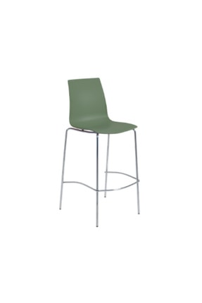 Papatya X-treme Bsl Pro Bar Sandalyesi Otel Kafe Restoran Mutfak Yeşil-krom