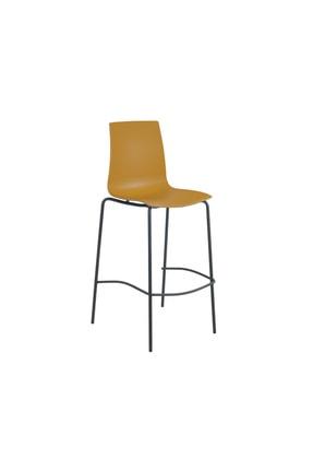 Papatya X-treme Bsl Pro Bar Sandalyesi Otel Kafe Restoran Mutfak Sarı-antrasit