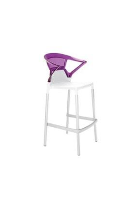Papatya Ego-k Plastik Bar Sandalyesi Polikarbonat Sırt Gaz Enjeksiyonlu Cam Elyaflı Pp Gövde