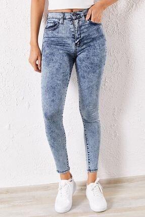 Zafoni Kadın Gri Kot Pantolon