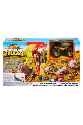 HOT WHEELS Monster Trucks Big Air Breakout Oyun Seti /hw Monster Trucks % 100 Orjınal