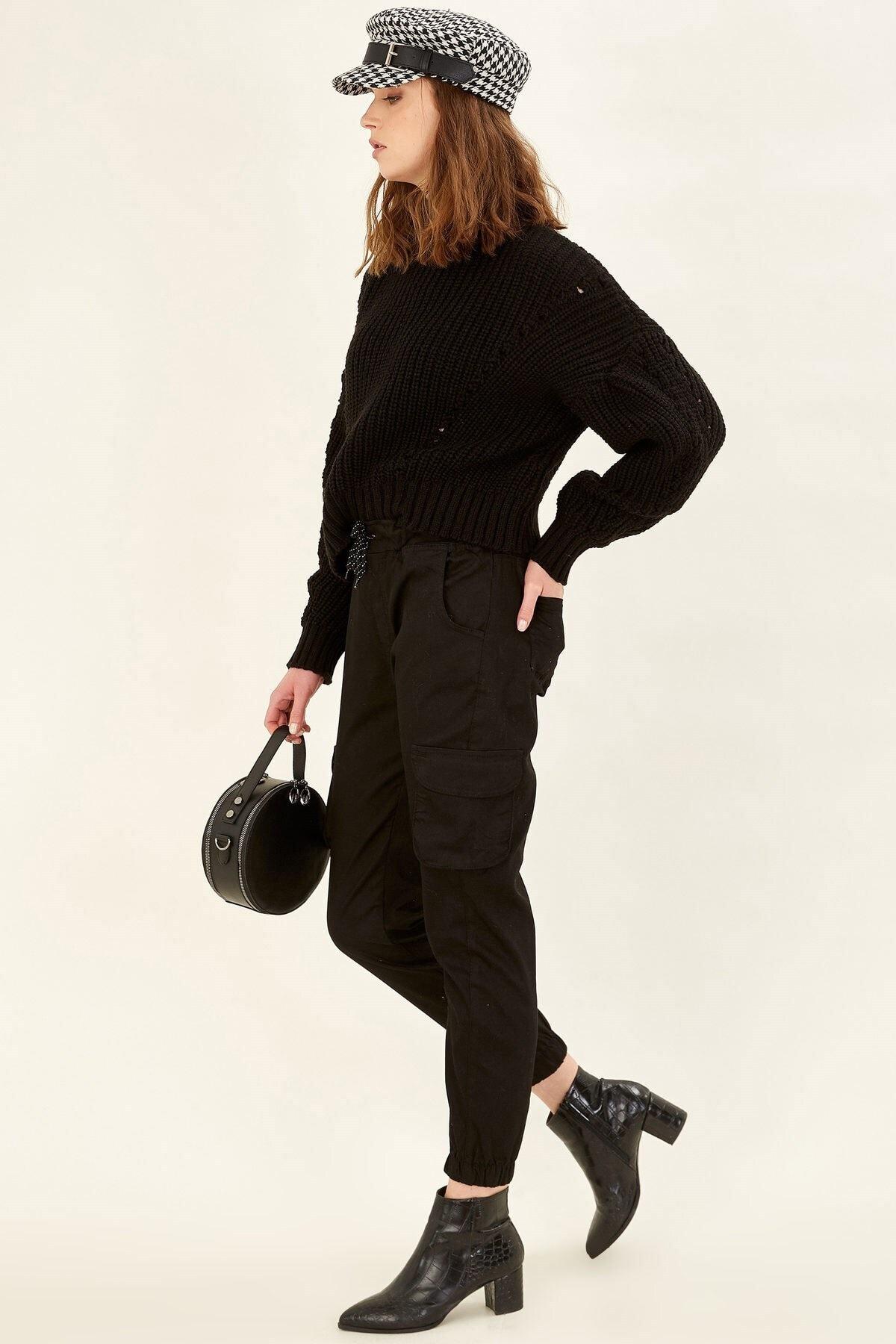 Arma Life Kadın Siyah Kargo Pantolon 2