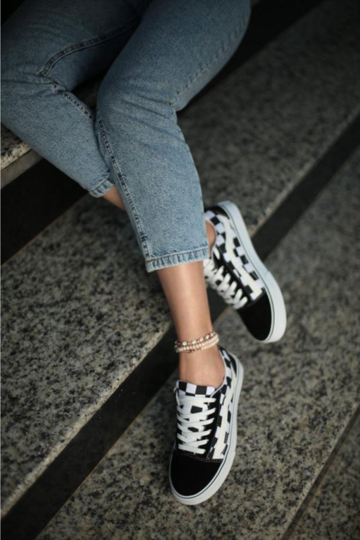 ESPARDİLE Kadın Siyah Günlük Spor Ayakkabı Vesp 1
