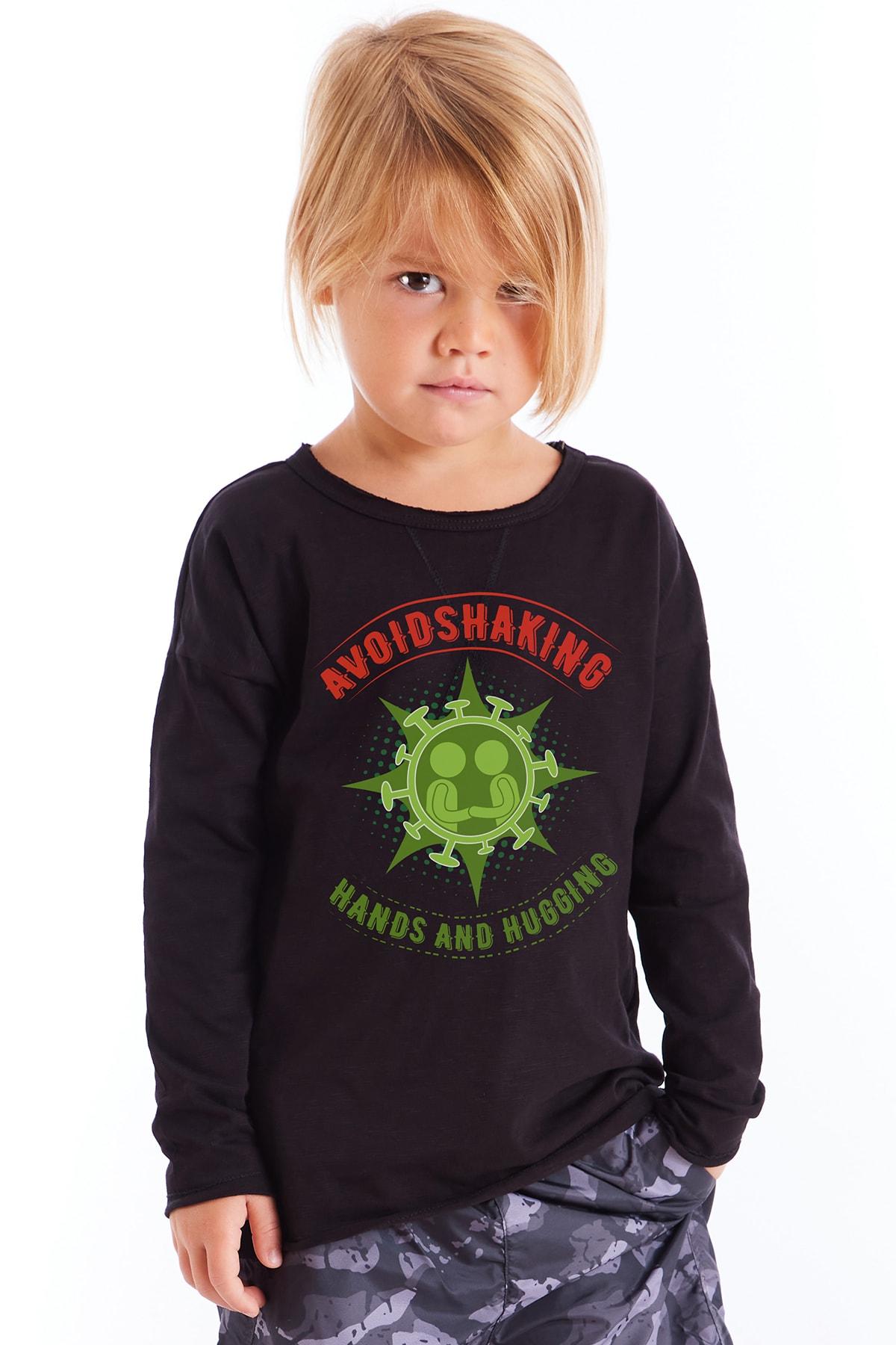 Colorinas Çocuk Siyah Baskılı Tshirt 1
