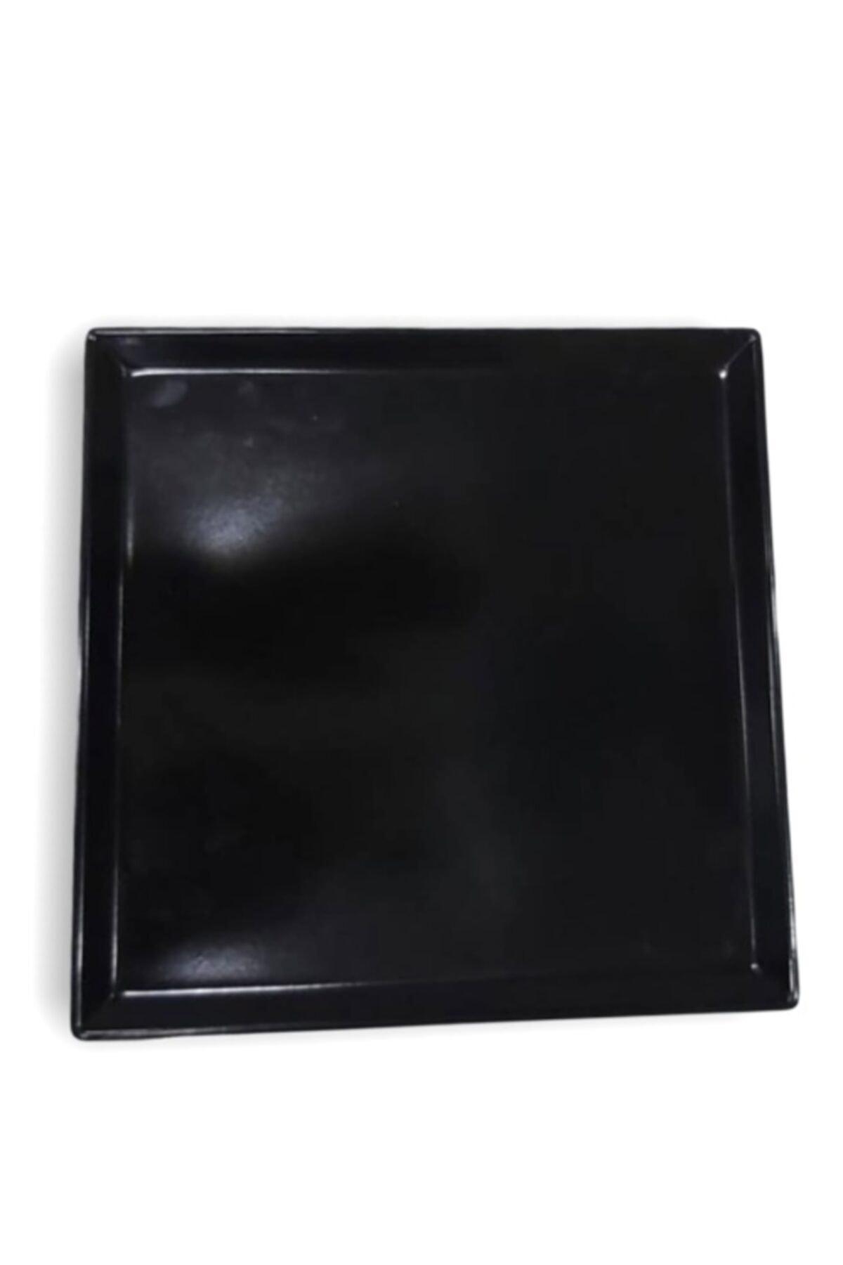 Evren 20*20cm Siyah Sunum Tabağı Thermo Melamin 2