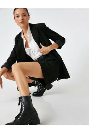 Koton Kadın Siyah Kemerli Sort