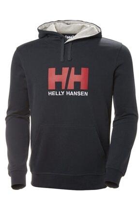 Helly Hansen Erkek Lacivert Baskılı Sweatshirt
