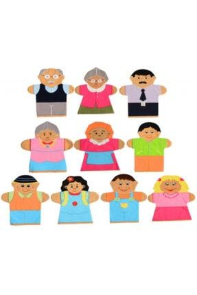 Gökmen Oyuncak El Kuklası Aile 10 Lu Paket