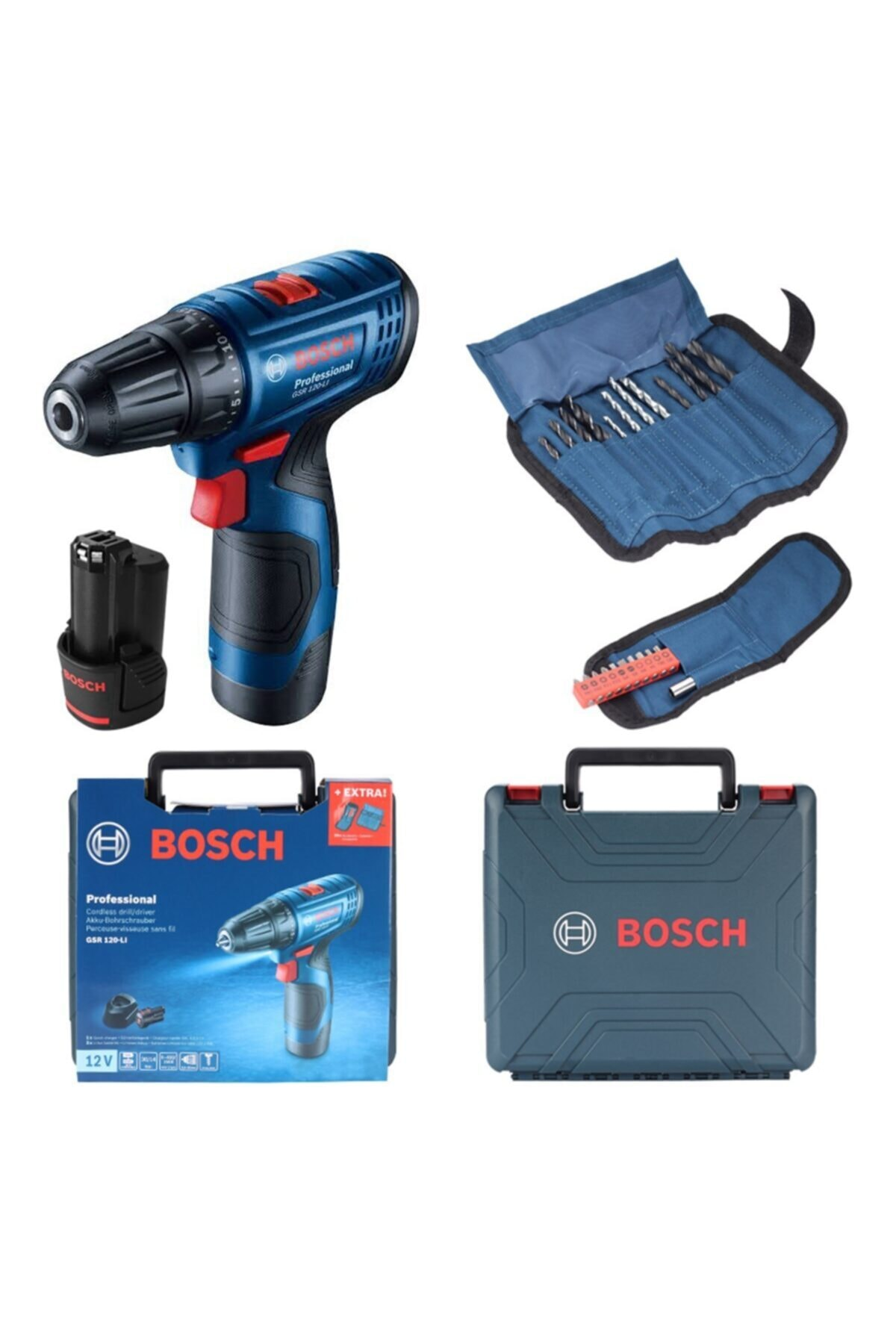 Bosch Gsr 120-lı 2 Ah Şarjlı - Akülü Delme Vidalama Makinası - 06019g8002 1