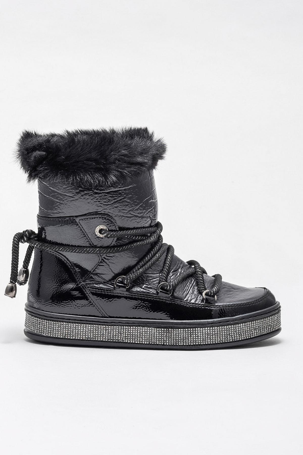 Elle Shoes ROSSELLEE Siyah Kadın Bot 1