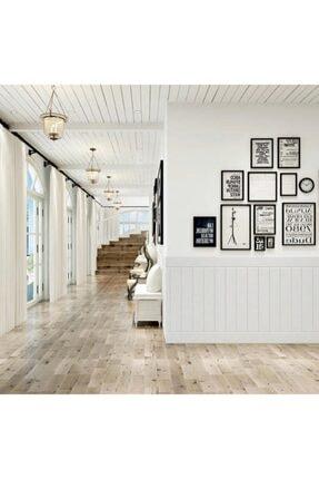 Renkli Duvarlar Nw43 Beyaz Ahşap Arkası Yapışkanlı Esnek Silinebilir Duvar Paneli 3d Duvar Kağıdı