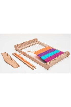 WoodyLife Çocuk Halı Dokuma Tezgahı Ahşap Çocuk Oyuncak Montessori Anne Çocuyk Etkinlik