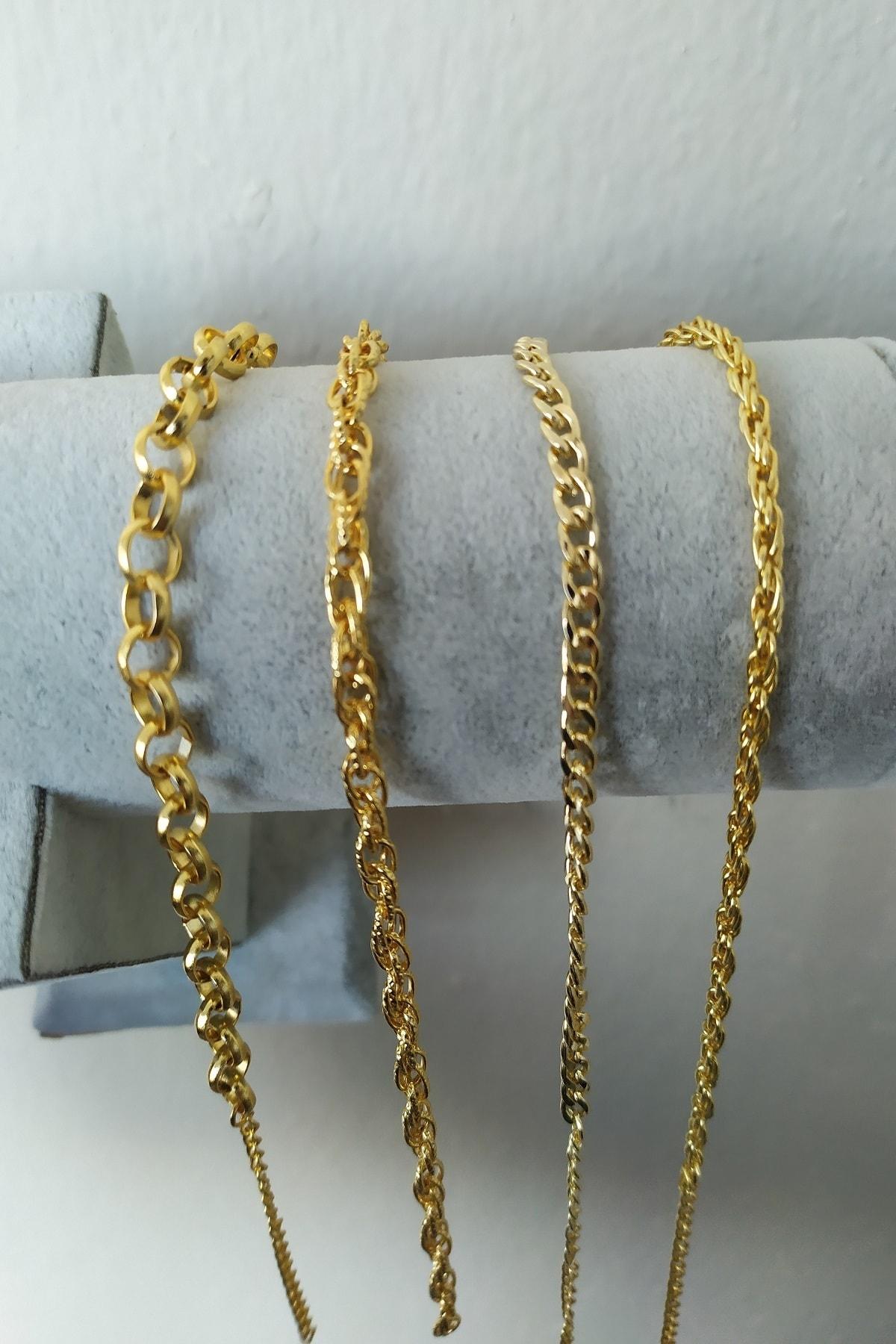 KOBA Kadın Altın Kaplama Dörtlü Kombin Bileklik 2