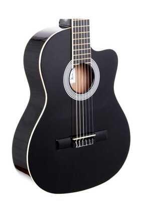 Rodriguez Klasik Gitar Siyah Kesik Kasa Rcc550bk