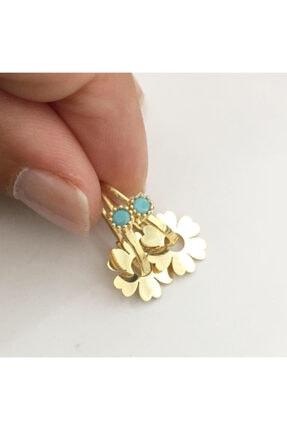 simurg jewellery Mavi Taşlı Gümüş Göçmen Küpe