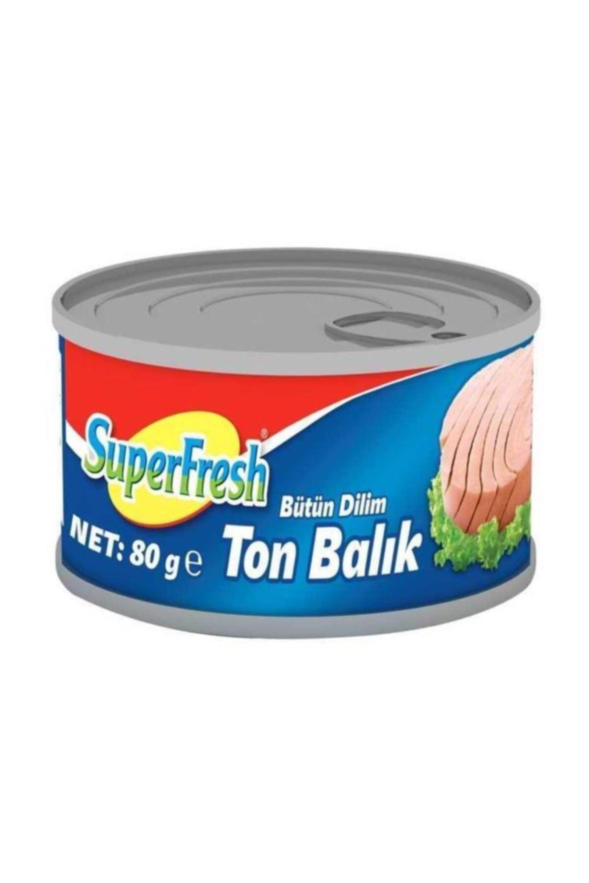 SuperFresh Bütün Dilim Ton Balığı 80 Gr X 24 Adet Skt: 08/2023 2