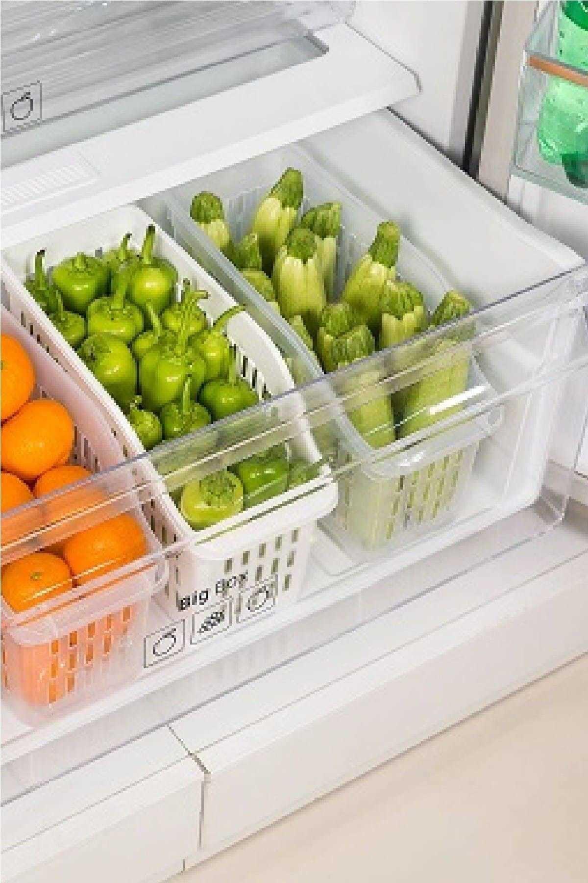Kitchen Love 3 Adet Buzdolabı Düzenleyici 1