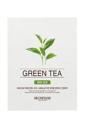 Skinfood Tek Kullanımlık Yüz Maskesi Yeşil Çay 18 Ml 8809427869014