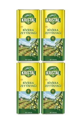 Kristal Riviera Zeytinyağı 5 Lt 4 Adet 1 Koli